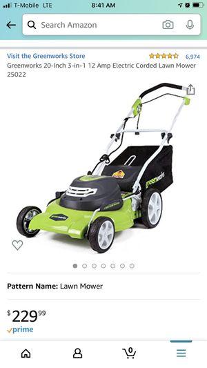 Greenwood 20inch lawn mower corded for Sale in Atlanta, GA
