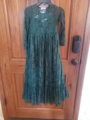 Beautiful Girls Hunter Green Lace Dress for Sale in San Antonio, TX