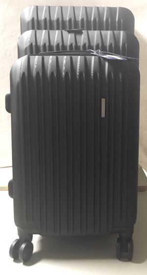 3Pcs Black Luggage Travel Set Bag for Sale in California, MO