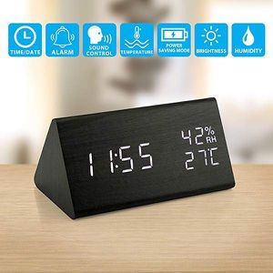 Wooden Alarm Clock, Wood LED Digital Desk Clock for Sale in Fontana, CA