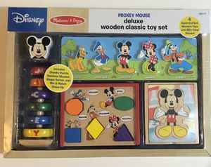 Melissa and Doug Disney Mickey Mouse Deluxe Wooden Toy Activity Set and Puzzles NEW for Sale in Miami, FL