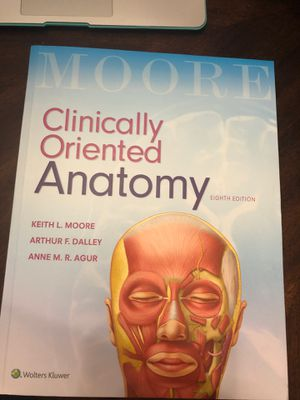 Clinically Oriented Anatomy 8th ed for Sale in Fort Lauderdale, FL