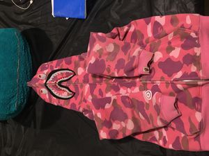 Bape - BATHING APE PINK Hoodie Size medium for Sale in Nottingham, MD