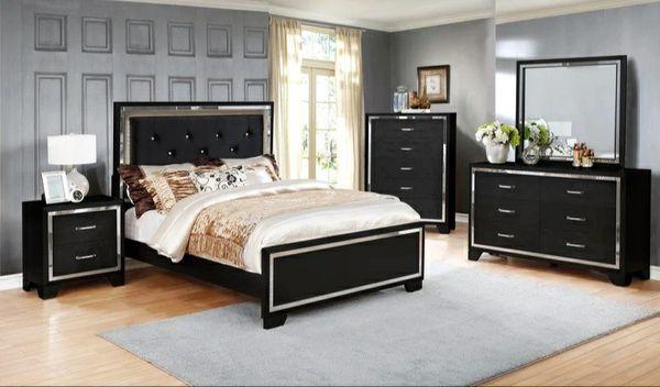 Best price Bianca Black Queen/King Bedroom Set   B592