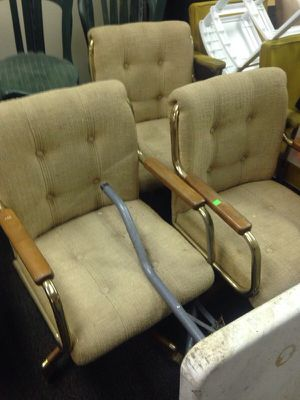 3 matching office wheel chairs for Sale in Caledonia, MI