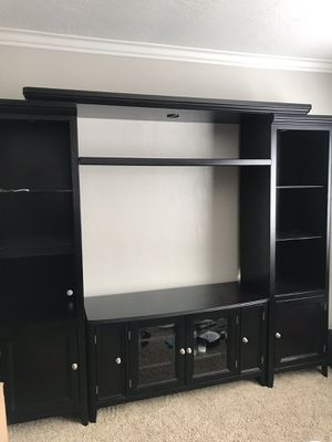Ashley Furniture Black Entertainment Center for Sale in Orange, CA