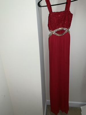 Full length evening gown (red) for Sale in Holly Springs, NC