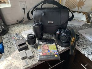 Nikon D5500 w/ 18-55mm lens, 55-300mm lens, 2 batteries, charger, sdcard, and carrying case for Sale in Orlando, FL