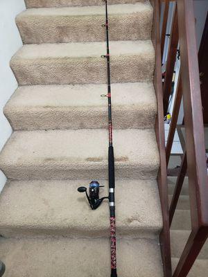 Penn fierce 2 5000 on custom fishing rod for Sale in Lake Worth, FL