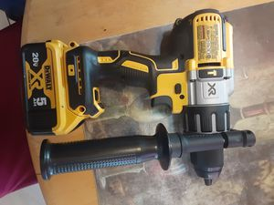 "Dewalt 20v xr brushless 3 speeds 1/2"" hammer drill with battery for Sale in San Jose, CA"