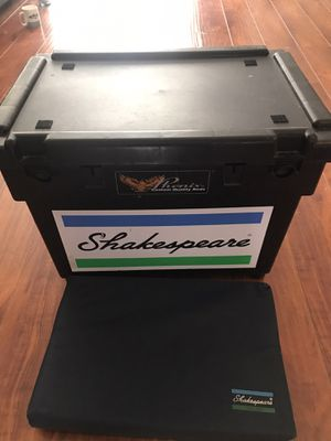 Fishing tackle seat box Shakespeare with cushion for Sale in Redondo Beach, CA