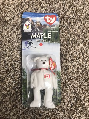 Ty Maple The Bear 1999 Canadian Canada Beanie Baby Ronald McDonald House NIB for Sale in Buckhannon, WV