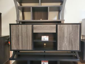Jason TV Stand up to 70in TVs, Distressed Grey & Black for Sale in Midway City, CA