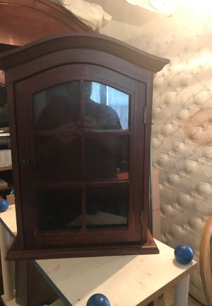 """Cabinet with two shelves, hang or put on counter. 20"""" tall by 15 1/4""""wide by 6"""" deep for Sale in Santee, CA"""