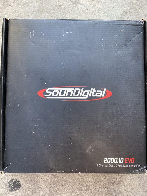 Soundigital 2000.1D EVO 1 ohm Evolution Line Class D | Monoblock Car Amplifier with 2000 Watts RMS