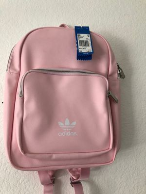 NWT Pink Faux Leather Adidas Backpack. 60 OBO for Sale in San Diego, CA