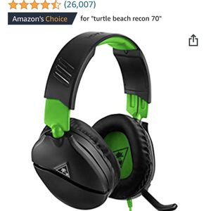 Turtle Beach Recon 70 Gaming Headset for Xbox One, PlayStation 4 Pro, PlayStation 4, Nintendo Switch, PC, and Mobile - Xbox One for Sale in Allen, TX