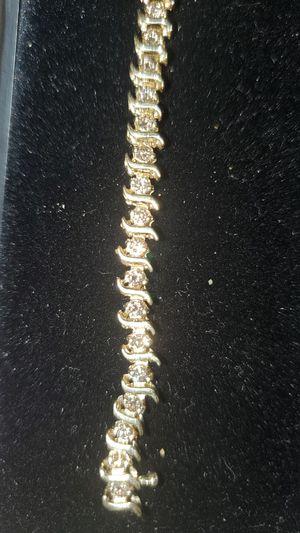 1.5ct champagne diamonds 14k gold elegant bracelet for Sale in Aurora, CO