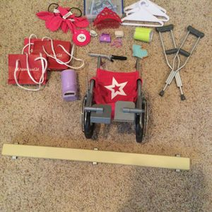 American Girl Doll Accessories - Wheelchair, Crutches, Cast Etc for Sale in Seal Beach, CA