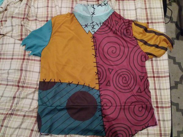 Sally dress shirt (dress converted to shirt), nightmare before christmas, halloween costume