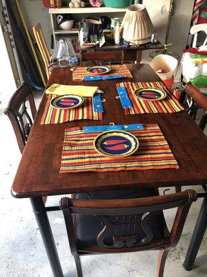 Wooden table with antique chair set for Sale in Alexandria, VA