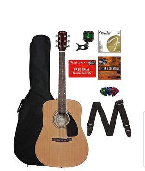 Fender FA-115 Acoustic Guitar Bundle with Gig Bag, Tuner, Strings, Strap, Picks, for Sale in MIDDLEBRG HTS, OH