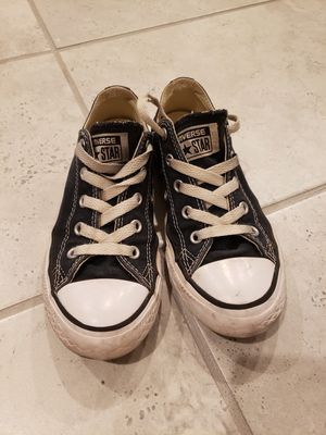 Youth black and white converse- size 1 for Sale in Buckeye, AZ