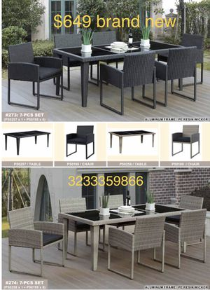 Brand new 7-pc patio set for Sale in Santa Monica, CA