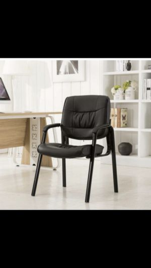 Black conference/guest/lounge desk chair SEASON SPECIAL holiday gift items black guest lobby chair office chair for Sale in Fullerton, CA