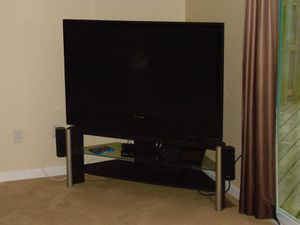 """55"""" Panasonic projection TV + stand for Sale in Pittsburgh, PA"""