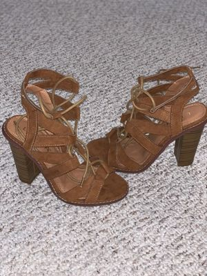 Tan blocked heels for Sale in Chelmsford, MA