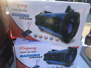 Portable Bluetooth Bazooka Stereo Speaker. Rechargeable LED light AUX FM/USB/TF for Sale in Silver Spring, MD