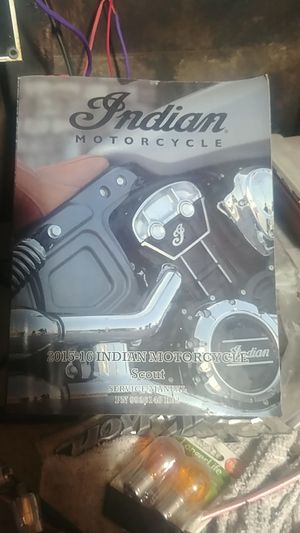 Indian Motorcycle 2015-16 Indian Scout service manual for Sale in Alhambra, CA