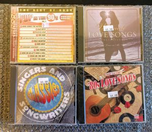 (4XCD) Pop in the 90s, Ultimate Love Songs, Classic Country 80s Love Songs, Singer Songwriter Classics (New/Sealed) Time Life Music for Sale in Huntington Beach, CA