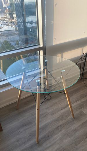 Glass table for kitchen/ dining room for Sale in Baltimore, MD
