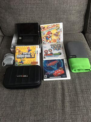 Nintendo 3DS WITH GAMES AND TWO CASES for Sale in Warren, MI