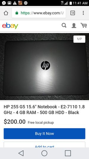 HP 255 G5 Notebook PC for Sale in Columbus, OH