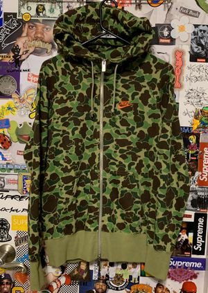 Nike x Atmos Duck Camo Fullzip Hoodie 2013 Medium Reverse Infrared for Sale in Albany, CA