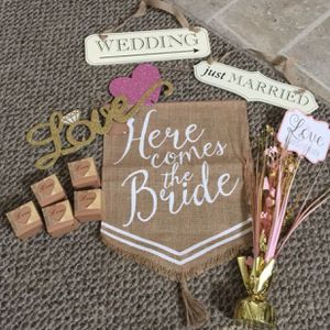 Wedding Signs Bridal Shower Engagement Party Decor Favor Boxes for Sale in Largo, FL