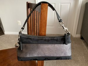 Authentic Coach Signature Stripe Small Hobo Bag for Sale in Annapolis, MD