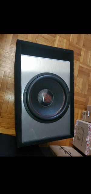 15INCH MASSIVE AUDIO HIPPO XL 4000WATTS DUAL 2OHM WIRED TO 1OHM LOAD IN PERFECT SPECS SUBWOOFER BOX for Sale in The Bronx, NY