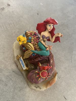 Walt Disney Little mermaid 1990s extremely rare collectible marble statue for Sale in Long Beach, CA
