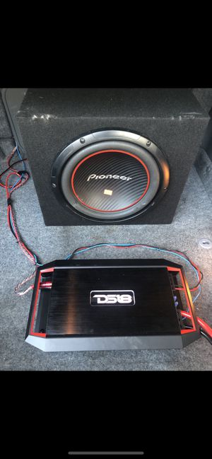 "12"" Pioneer Subwoofer 600W and DS18 Gen -x800.2 2 Chanel Aplifier 800w for Sale in Miami Beach, FL"