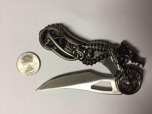 Bikers dragon motorcycle knife for Sale in Denver, CO
