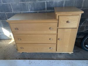 Wood Baby Changing Station and Dresser - Good Condition for Sale in Rockaway, NJ