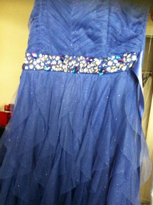 Indigo high low prom/ dance dress for Sale in Brawley, CA