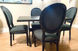 Shabby Chic Black Wood Dining Table & chairs for Sale in Denver, CO