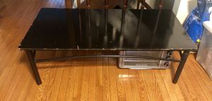 Black wood & metal coffee table for Sale in Burke, VA