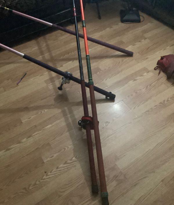 Orange super seeker ulua acid wrapped & first gen saber 540 custom 10ft rods