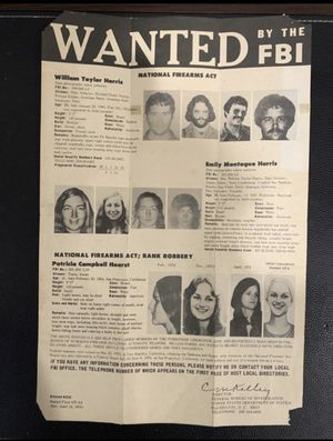 Patty Hearst FBI most wanted poster for Sale in Hayward, CA